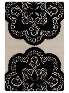 doilies never looked so chic as on this rug!