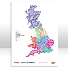 Music Map of Great British Bands