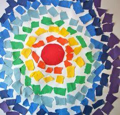 Collage cercles couleurs