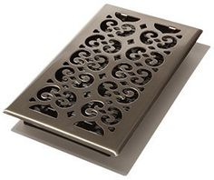 """6 x 12"""" Steel Cold Air Return and Floor Register Vent Cover - Brushed Nickel Decor Grates"""
