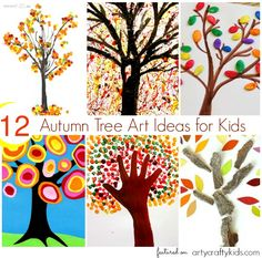 12 Beautiful easy Autumn Tree Art Ideas for Kids. Discover a unique range of Autumn themed trees, all with their own unique and fun twist!