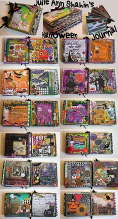Fall and Halloween Art Journals