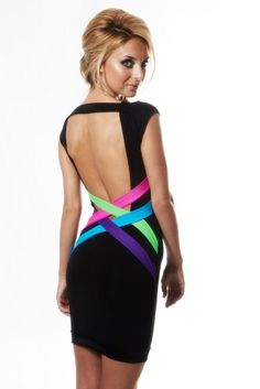Quontum Neon Criss Cross Strap Dress. Pretty cute Inspired by the Above & Beyond group therapy album?