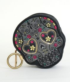 sugar skull coin purse