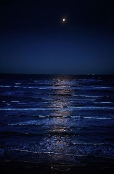 This is a really nice picture of the reflection on the water and the contrast of the dark blues and white light. This is created by a high moon light.