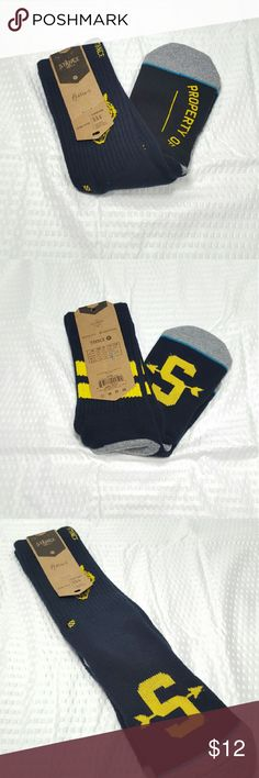 Stance Reserve Men's Socks -Medium NWT Stance Mens Socks size Medium. Dark blue with yellow logo and other accents. Toe and heel are dark gray with light blue piping.  Very cool socks!  Only 4 pair available for purchase!  (Due to the amount I paid AND Poshmark's 20% fee, I am unable to lower the price UNLESS you buy multiples and/or bundle with other items.)  **Consider bundling to save on shipping**  #StanceSocks #stance #skateboarding #tomboy #menssocks #stancenation…
