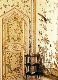 book Early Georgian Interiors by John Cornforth, 2005 Published by Paul Mellon Centre for Studies in British Art Abe Books photo: Birdcage Room (c Grimsthorpe Castle, Lincolnshire, UK via. Casa Milano, Art Decor, Decoration, Georgian Interiors, Dream Rooms, Mellow Yellow, My New Room, Chinoiserie, My Dream Home