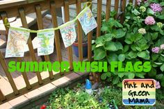 Pink and Green Mama: * Summer Wish Flags (Summer To-Do List Modified)