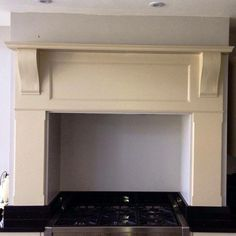 Bespoke kitchen mantle surround for above a range cooker or Aga ...