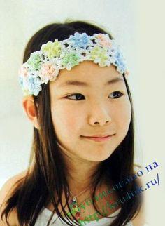 Cute flower headband with diagram