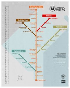 Connecticut Metro Map. Taking the metro to NYC!!!