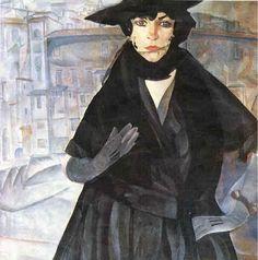 A Lady in Black : Boris Grigoriev : Expressionism : portrait - Oil Painting Reproductions Russian Painting, Russian Art, Figure Painting, Woman Painting, Kandinsky, Turbans, Russian Avant Garde, Best Portraits, Art Archive