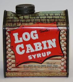 Can Of Log Cabin Syrup, Ca. 1950 1955. (Hoboken Historical Museum