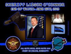 IN MEMORIAM: SHERIFF LADSON O'CONNOR Sheriff Ladson O'Connor was in killed a in a vehicle crash during a pursuit of two subjects on Highway 56. The pursuit started in Toombs County when deputies attempted to stop the vehicle. The vehicle fled as its occupants fired shots at the pursuing Toombs County deputies. Sheriff O'Connor joined the pursuit near the county line. His vehicle left the roadway and struck a tree, causing him to suffer fatal injuries. Sheriff O'Connor is survived by his wife…