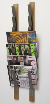 Magazine and newspaper rack by www.packandrack.com Tidningsställ