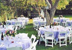 garden wedding -  just have such a love for thesse chairsss