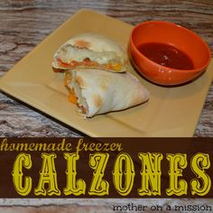 Homemade Freezer Calzones: step-by-step instructions for delicious homemade pizza pockets