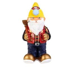 This hand-crafted San Francisco Thematic Garden Gnome from Forever Collectibles is officially licensed by the NFL. This thematic gnome is uniquely designed with your favorite team's logo and theme in mind. Gnome is built to fit the teams reg Gnome Statues, Garden Statues, Gifts For Football Fans, 49ers Fans, Nfl San Francisco, Fit Team, Aleta, Sports Toys, Gnome Garden
