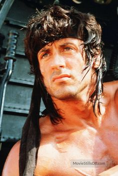 Rambo: First Blood Part II - Publicity still of Sylvester Stallone Sylvester Stallone Rambo, Rocky Series, Watercolor Portrait Tutorial, Silvester Stallone, Superman Baby, First Blood, Hollywood Men, Battle Royale, Rocky Balboa