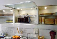 42 veces he visto estas lindas alacenas de cocinas. Modern Kitchen Cupboards, Kitchen Sink Design, Kitchen Cabinet Drawers, Loft Kitchen, Kitchen Cabinets Decor, Kitchen Interior, Dish Cabinet, Kitchen Organization Pantry, Kitchen Storage
