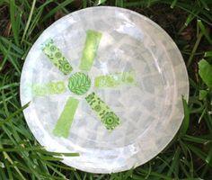 Festive fabric plate - made with Mod Podge!