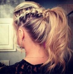 Cute summer beach hair: for when you need it out of you face or have a cute shirt to show off.