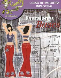 free sewing pattern - Mujeres y alfileres: Revista de moldería industrial: pantalón base