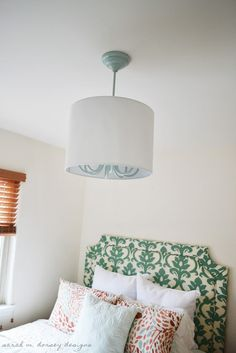 How to install a drum shade over a refurbished chandelier