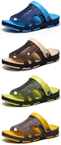 5492cc40e Men Hole Soft Water Friendly Sandals Casual Beach Shoes is comfortable to  wear