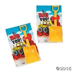 """""""I Dig You"""" Valentine Cards with Shovels"""