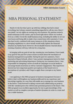 Find out how you can use our professional MBA essay examples and tips to help you to submit an application that will get you accepted to your dream program! Personal Statement Grad School, Personal Statements, College Application Essay Examples, Argumentative Essay Outline, Motivational Letter, 500 Word Essay, Best Essay Writing Service, College Admission Essay, Vie Motivation
