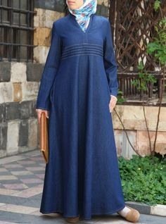 c257f811ea71d0 Denim Ambarin Abaya. Muslim Women ...