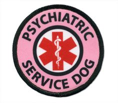 Psychiatric Service Dog Vest Harness Patch - Medical Alert Patches - PTSD, Stress and anxiety response dogs, Sew-on 5 Sizes small - large Service Dog Training, Service Dogs, Dog Training Tips, Psychiatric Services, Psychiatric Service Dog, Service Dog Patches, Medication For Dogs, Support Dog, Dog Anxiety