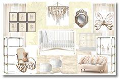 creamy dreamy nursery for baby girl. Yes, please. {design by @Christine Dovey of Bijou and Boheme}