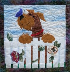 You,d have to be barking mad not to love this dog rescue fundraising quilt. Specifically for an Airedale Terrier Society Dog Quilts, Cute Quilts, Animal Quilts, Small Quilts, Mini Quilts, Baby Quilts, Applique Patterns, Applique Quilts, Baby Applique