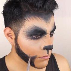 Werewolf Makeup by @ jcmakeupmaster # colorful … – Halloween Costume Halloween Homme, Halloween Cosplay, Couple Halloween, Halloween Make Up, Halloween Face Makeup, Halloween House, Werewolf Face Paint, Male Makeup, Artistic Make Up