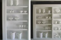 Milk glass: so crisp and clean!