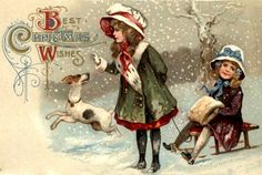 Remodelaholic   25+ Free Vintage Christmas Card Images; Day 12