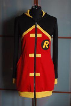 Damian Wayne (Batman and Robin) inspired hoodie M/L Robin Damian Wayne, Custom Made Hoodies, Young Justice Robin, Nerd Fashion, Funky Fashion, Batman Outfits, Fandom Outfits, Batman Robin, Geek Chic