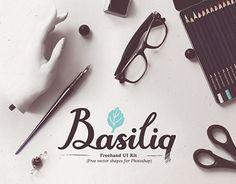 Ознакомьтесь с этим проектом @Behance: «Basiliq - Freehand UI Kit» https://www.behance.net/gallery/10482323/Basiliq-Freehand-UI-Kit