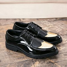 US  24.46 49% OFF Aliexpress.com   Buy Ectic Carve Patent Leather for Men  Causal Vintage Fashion Shoes Rubber Sole Lace up Adult Brogue Hollow out  Shoes ... 01f6f6d860