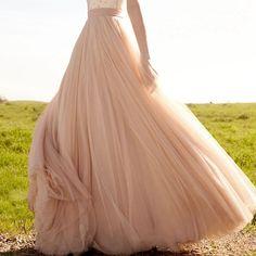 Blush Wedding Petticoats Overly Soft Tulle Full Length Long Skirt Wedding Petticoats Bridal Accessories Bridal Wedding Skirt Dress Slips