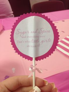 This is such a cute idea for a girl baby shower.