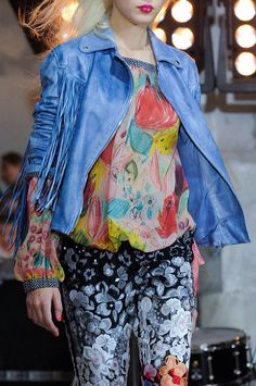 +++ Wunderkind + Spring / Summer 2014 + PFW + RTW +++ #sporty #fringes #OldWest #Western #reptile  #print #motif #leopard #flowers #florals #colorful   #frock #biker   #leather #varsity #sportswear #sheer #chiffon #tulle #net #mesh  #pleated #embroidery #flags #Wunderkind #ParisFashionWeek  #SS14 #WomensFashion #PFW #Summer2014 @ISAZAfashion