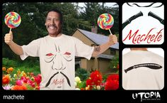 http://www.facebook.com/UtopiaLux Unusual tshirt design. #tarantino #movie #gun #blood #blow #design #lookbook #sick #funny #utopia #marihuana #joint #kill bill #machete #Rodriguez #danny #trejo #tshirt