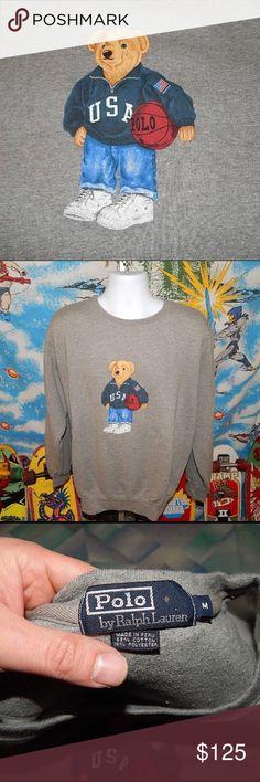 73c7a9838d I just added this listing on Poshmark: Vintage polo bear basketball  sweatshirt medium. #