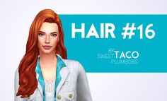 """sweettacoplumbobs: """" HAIR #16 1. Not Hat Compatible 2. In All of EA's Colours Download HERE Special Thanks to Kiara Zurk for letting me use her conversion! """""""