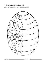 Kindergarten-KigaPortal-Easter Egg-complain and … - Easter Eggs Day Easter Art, Easter Crafts For Kids, Diy For Kids, Easter Eggs, Spring Art, Spring Crafts, Easter Colouring, Art Worksheets, Easter Activities