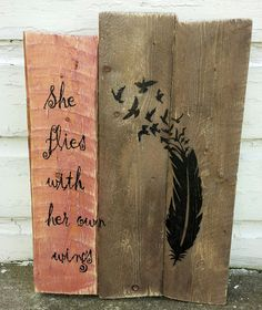 """This pallet sign is approximately 11"""" x 17"""" and features black lettering and design on a brown and burgundy stained background. Great gift for that unique and i"""