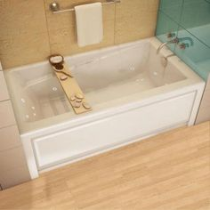 MAAX New Town 5 Ft. Whirlpool Tub In White 105454 091 001